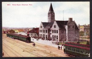 WY - Cheyenne- Union Depot card 8417 - see note