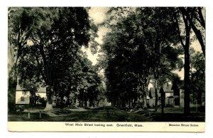 MA - Greenfield. West Main Street looking East
