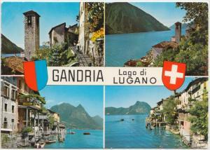 GANDRIA, Lago di LUGANO, 1976 used Postcard
