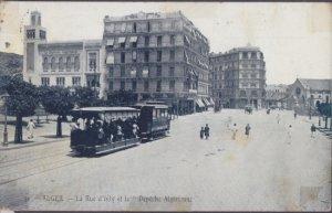 STREET SCENE showing old trolley . SCENE of Massacre in 1962 Algerian War. 1910s