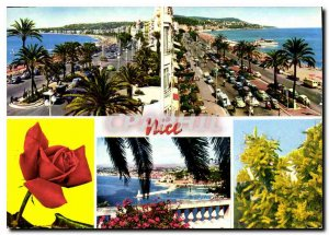 Modern Postcard The French Riviera Nice's Promenade des Anglais and Mont Boro...