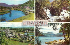 Postcard Modern Callander River Teith From The Crags The Falls of Leny Loch L...
