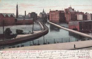 Erie Canal Aqueduct crossing Genesee River Rochester NY New York - pm 1908 - UDB
