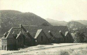 Estes Park Colorado Sanborn R-1751 RPPC Photo Postcard Catholic Church 21-5986