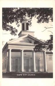 Hyannis Massachusetts Cape Cod Church Real Photo Antique Postcard J59861
