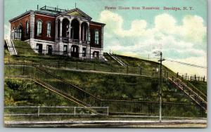 Brooklyn New York~Power House from Reservoir~2 Flights of Steps Uphill~1910 PC