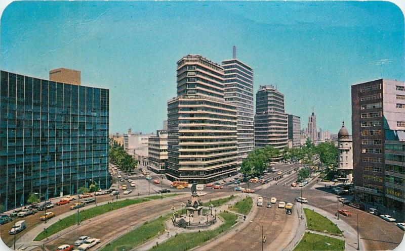 Columbus Circle Paseo de la Reforma Mexico City Mexico aerial view Postcard