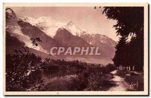 Old Postcard Chamonix The Mont Blanc Mirror