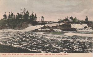 Falls on Androscoggin River between Lewiston and Auburn, Maine - UDB