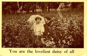 Romantic Couple - You are the lovliest daisy of all