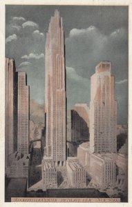 Rockefeller Center , NEW YORK CITY , 1930s ; Fifth Avenue View