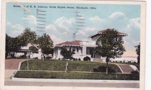 CHICKASHA, Oklahoma, PU-1946; Residence of H. B. Johnson, South Eighth Street