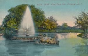 Fountain on Clarks Pond - East Avenue, Rochester, New York - pm 1914 - DB