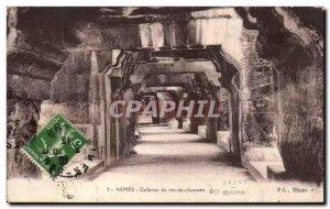 Old Postcard Nimes Galleries of the ground floor