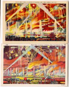 2 - Night View, Fireworks, 1939 NY Worlds Fair