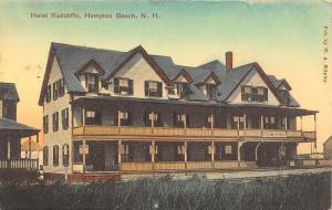 Hampton Beach NH~Hotel Radcliffe~Double Decker Porch~WA Shipley Pub~1909 PC