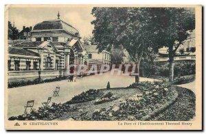 Old Postcard Chatelguyon Park and Spa Establishment Henry
