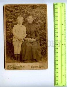 410071 RUSSIA Mother Bible believers son Treumann Staraya Russa CABINET PHOTO