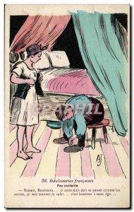 Old Postcard Fantasy Illustrator Humor Gauloiseries french Not happy