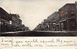 LPS63 NEW HAMPTON Iowa Main Street Town View Postcard