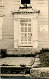 Vtg Velox RPPC Wentworth Gardner Casa Puerta de Entrada & Placa Montado 1760