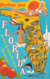 Map Of Florida The Sunshine State