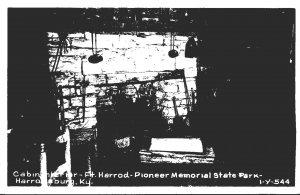 Kentucky Harrodsburg Pioneer Memorial State Park Fort Harrod Cabin Interior R...