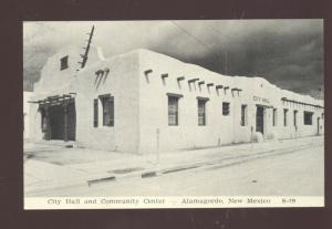 ALAMAGORDO NEW MEXICO CITY HALL COMMUNITY CENTER VINTAGE POSTCARD NM
