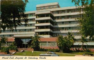 FLORIDA Postcard MOUND PARK HOSPITAL St Petersburg FL Bayfront Health 1974