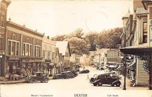 Dexter ME Main Street A&P Store Fronts Clear Image RPPC Postcard