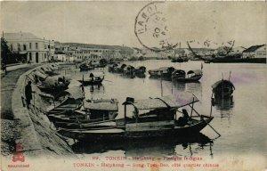 CPA AK INDOCHINA Tonkin Flotiglia indigina VIETNAM (957344)