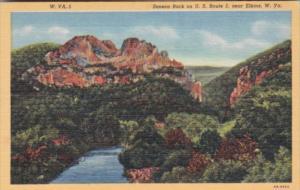 West Virginia Elkins Seneca Rock On U S Route 5 Curteich