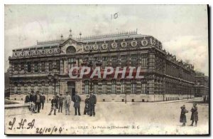 Old Postcard Lille Palace of the University