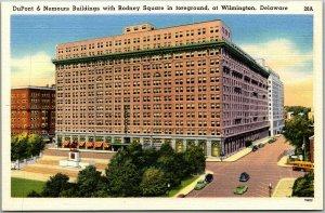 Wilmington, Delaware Postcard DuPont & Nemours Buildings / Rodney Square