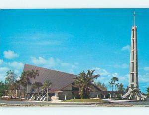Unused Pre-1980 CHURCH SCENE Miami Beach Florida FL p3183