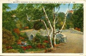 NY - Haines Falls. Twilight Park Entrance