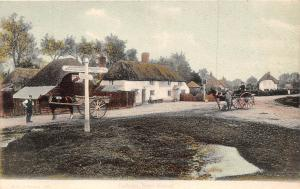 England New Forest, Cadnam village, horses, carriages