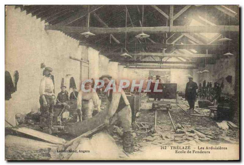 Vintage Postcard Trelaze Salte quarries the salte quarries S