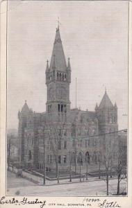 Pennsylvania Scanton City Hall Scanton 1906