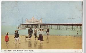Somerset; The New Pier, Weston Super Mare PPC 1904 PMK To Mr Matthew, Exmouth