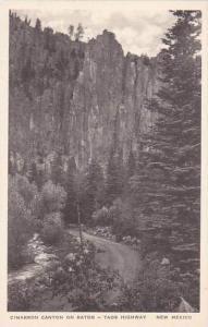 New Mexico Raton Cimarron Canyon On Raton Taos Highway Albertype