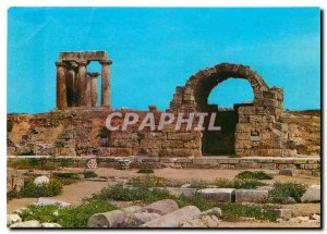 Postcard Modern Ancient Corinth triglyph magazines and the Temple of Apollo