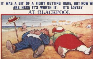 It was a bit of a fight getting here..  Bamforth Seaside Comic Ser. PC # 1882