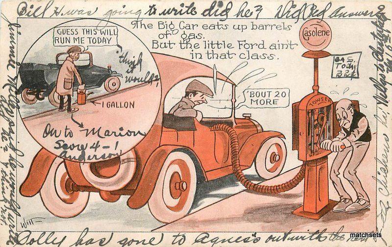 artist impression c 1915 witt auto humor postcard 10047