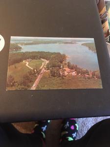 Vtg Postcard: Lake James From The Air . Angola Indiana