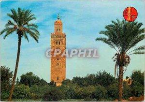Postcard Modern Marrakech Minorets of Koutoubla (twelfth century)