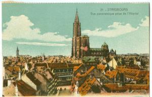 France, Strasbourg, Vue panoramique prise de l'Hopital