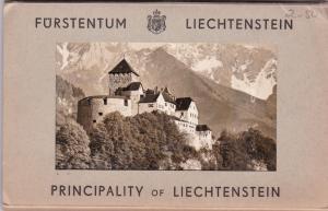 RP; 10-view Folder postcard,  LIECHTENSTEIN , 1930s-40s