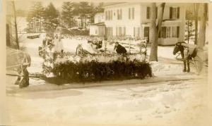 NH - Whitefield. Winter Carnival. Parade, Morrison Hospital Float, Winter 193...