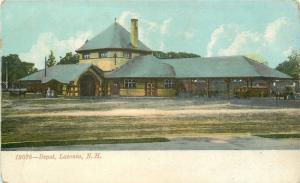 Laconia New Hampshire~Tracks at Railroad Depot~Round Room c1906 UDB